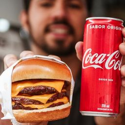 Combo 1 Triplo Cheddar + 1 Coca-Cola Original