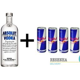 Combo Vodka Absolut + Redbull