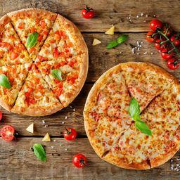 Pizza Em Dobro com Refrigerante