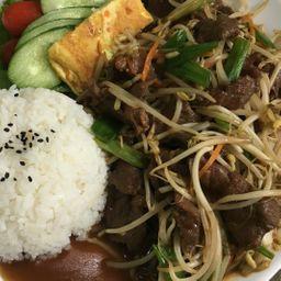 豆芽牛肉饭 Combo 5
