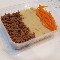 Fit Alcatra moída com purê de batata doce e cenoura (congelada)