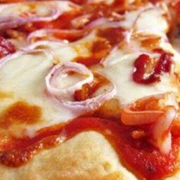 Pizza de Bacon e Mozarela - Grande