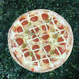 Pizza Grande de Pepperoni com Catupiry