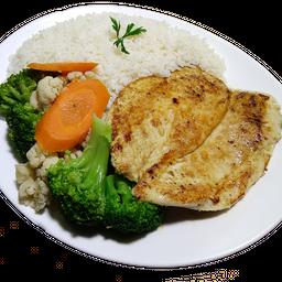 Frango com Legumes 3 Pessoas e Refrigerante
