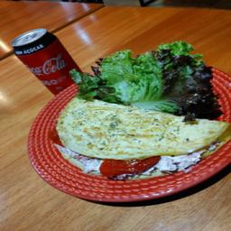 Omelete de Carne Seca e Coca-Cola Original