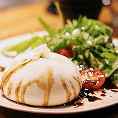Burrata com Tomatinho Confitado