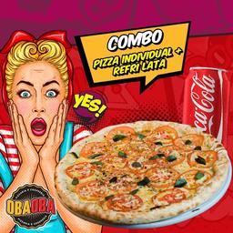 Combo Pizza Individual e Bebida