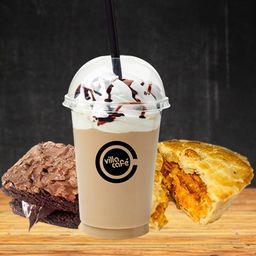 Combo Cappuccino Gelado com Empada e Brownie