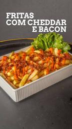 Fritas c/ cheddar e bacon