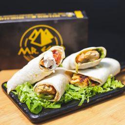 Shish Tawook Sandwich - Frango Grill - Servidos 2 Wraps