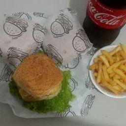 Combo X-salada Família com Hambúrguer Artesanal