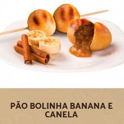 Pão Bolinha de Banana e Canela