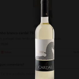 Vinho Branco Cardal 750ml