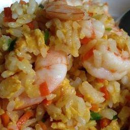 虾仁炒饭 yakimeshi de camarão