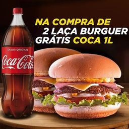 2 Sanduíches Laça Burguer + Refri