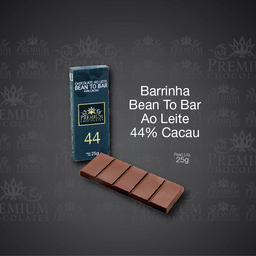 Barrinha Bean To Bar Ao Leite 44% Cacau - 25g