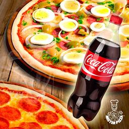 Combo 2 Pizzas Médias + Refri 600ml