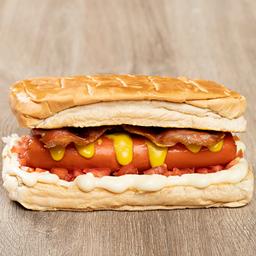 Hut dog bacon