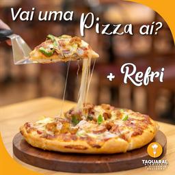 Pizza Grande e Refrigerante