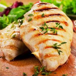 108- peito de frango grelhado com arroz