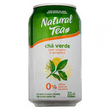 Natural Tea - Chá Verde Com Laranja E Gengibre 335ml