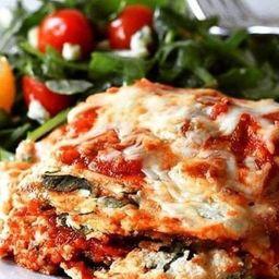 Berinjela Parmegiana com Spaghetti