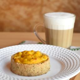 Quiche de Alho poró + Café com Leite