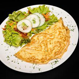 Omelete de Queijo Minas com Tomate