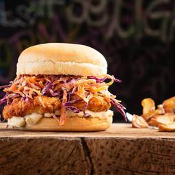 Chicken Sandwich Maximus + Fritas