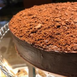 Fatia de Torta Dark com Caramelo