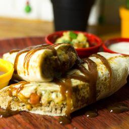 Burrito Filé suíno desfiado e barbecue
