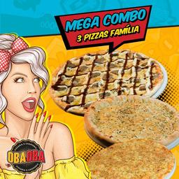 Mega Combo 3 Pizzas Família 35cm