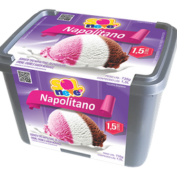 Pote de Sorvete Napolitano 1,5L