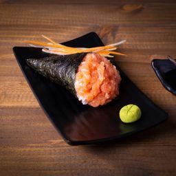 Temaki de salmão simples