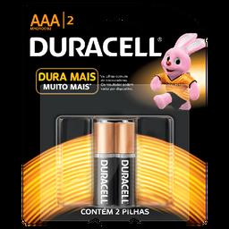 Pilha AAA Duracell c/2un