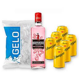 Befeater Pink + Tônica + Gelo + Taça