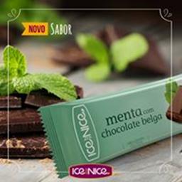 Menta com chocolate belga 80g picolé gourmet