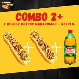 2 Hot Dogs 30cm Maçaricado + Refri 1 Lt