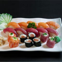 Sushi Salmão e Atum - 18 Peças