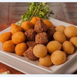 20 Salgados fritos + Guaraná São Carlos 600ml