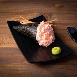 Temaki de salmão com cream chesse