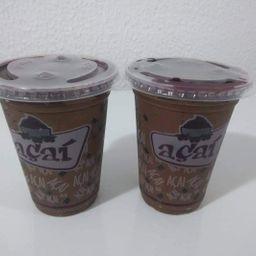 2 Copos Açaí 400ml C/creme de Avelã