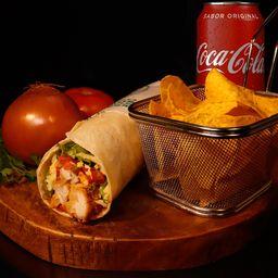 Trio Mex- Burrito + Nacho + Refri Lata