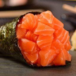 Temak salmão  em cubo