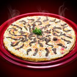 Pizza de Filé com Queijo do Reino
