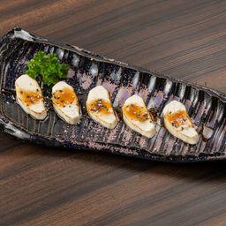 5 Sashimi de Prego Maçaricado e Teriyaki