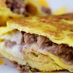 Omelete com Carne