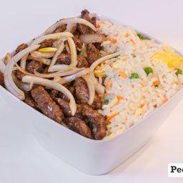 Box carne com cebola + arroz