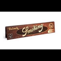 Seda Smoking Brown Marron Grande 33 Folhas