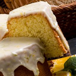 Fatia de bolo de laranja